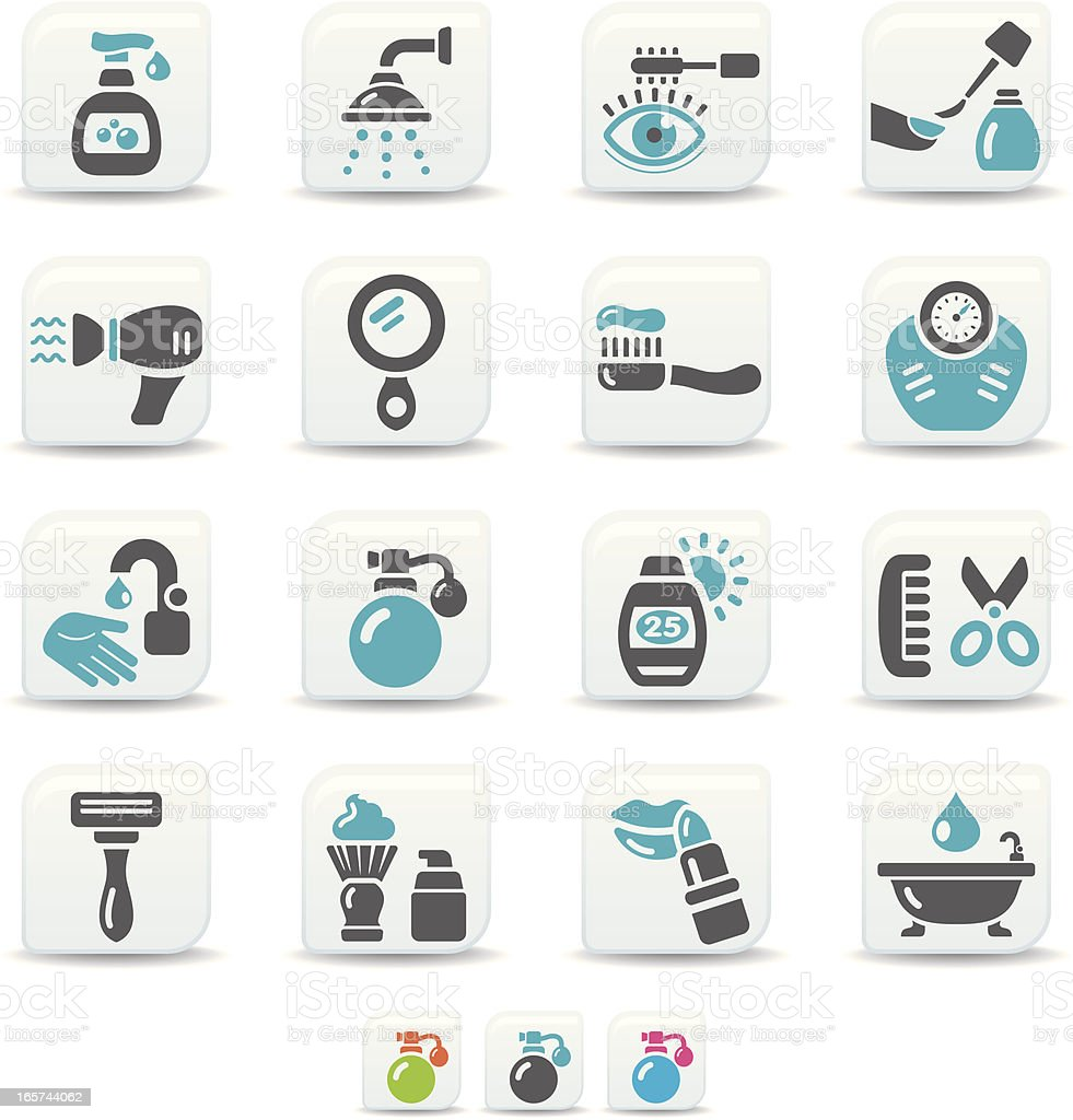 body care icons | simicoso collection vector art illustration