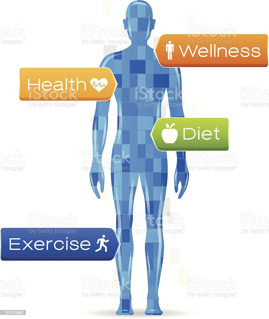 Body Health vector art illustration