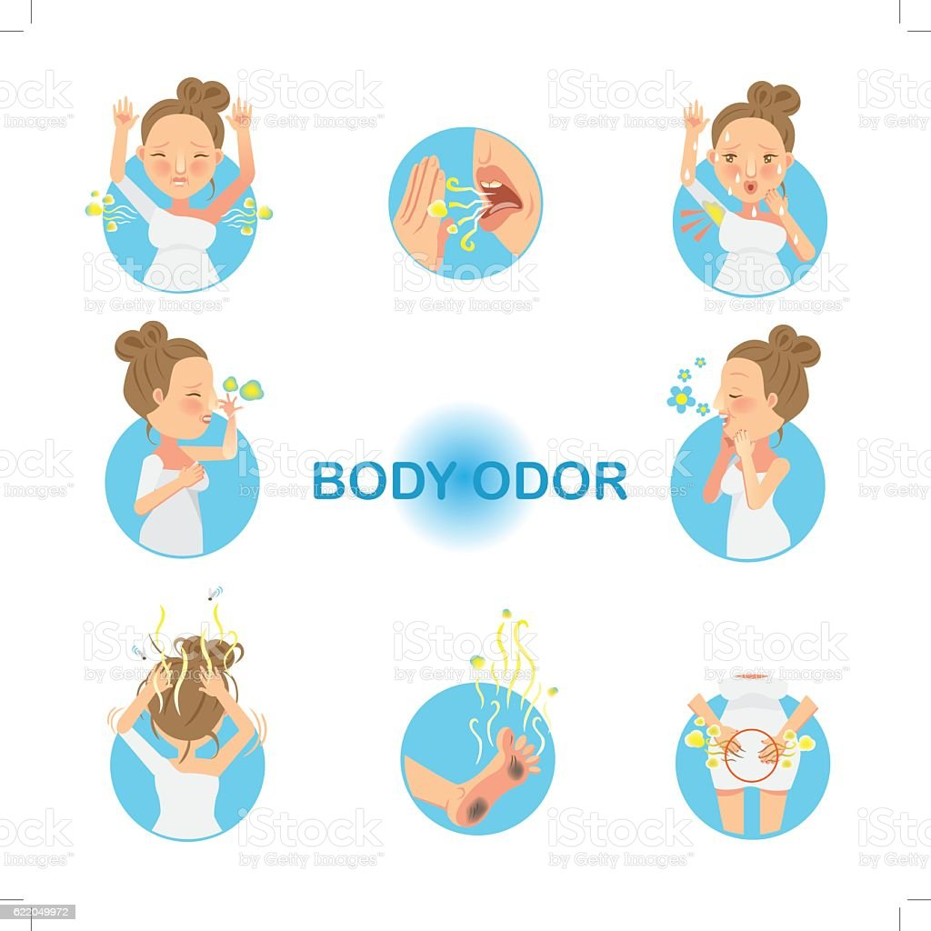 Body Odor vector art illustration