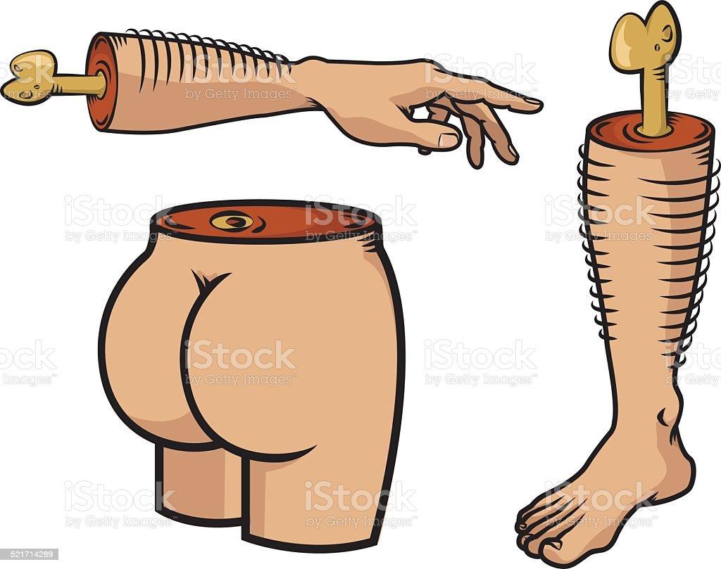 Body parts vector art illustration