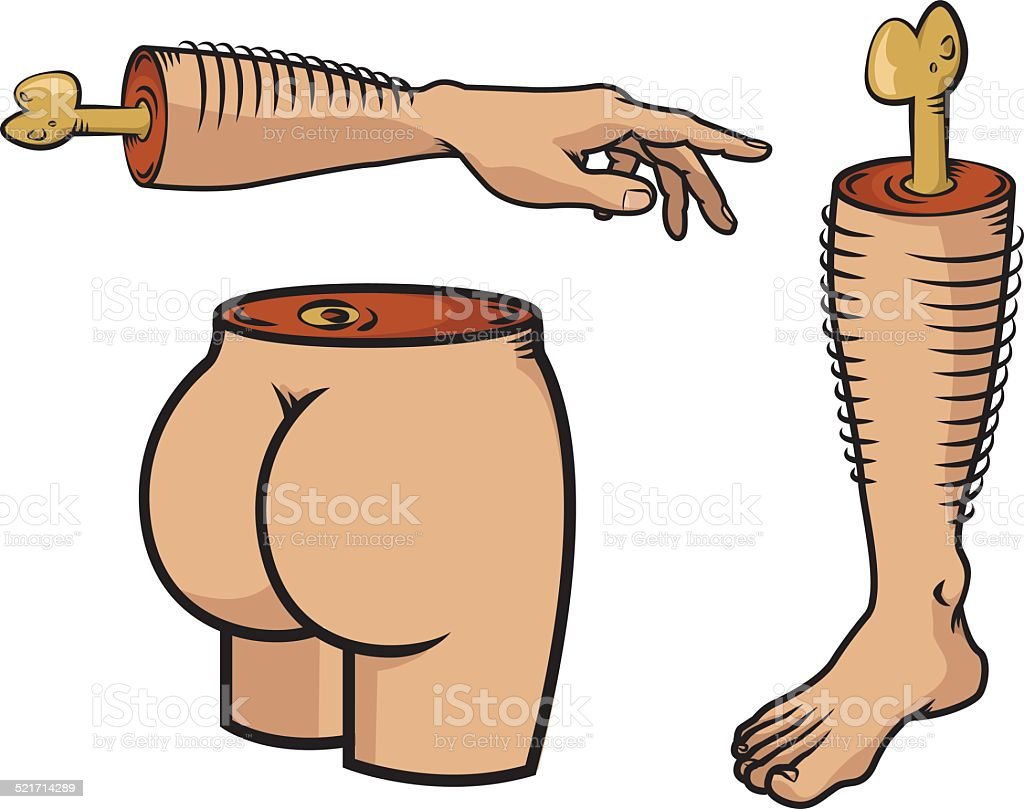 Body parts vector art illustration