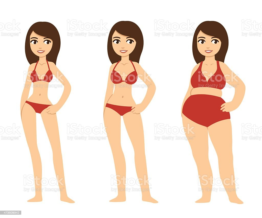 Body types vector art illustration