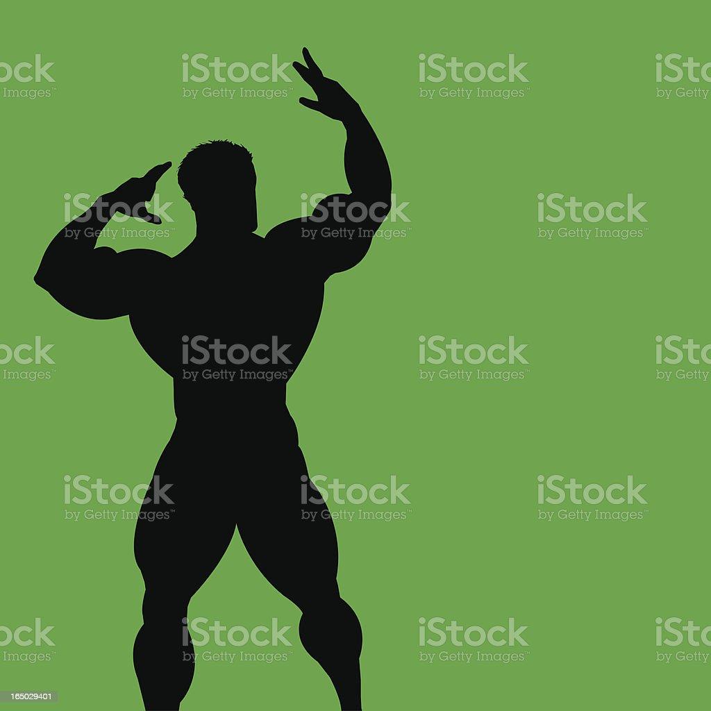 Bodybuilder 2 royalty-free stock vector art