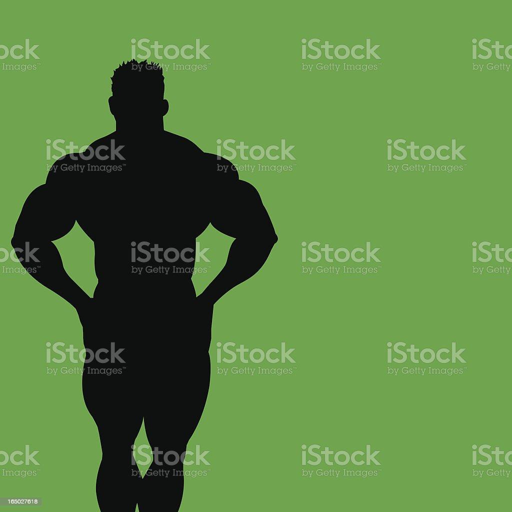 Bodybuilder 8 royalty-free stock vector art