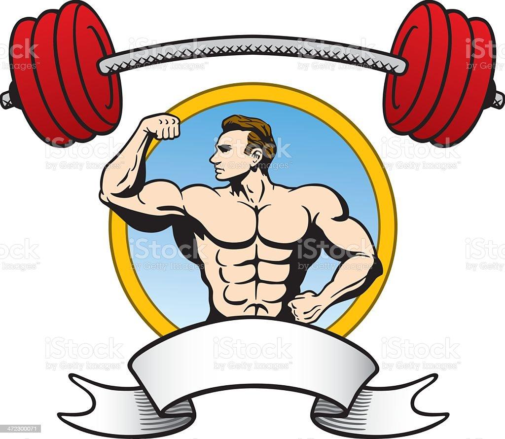 Bodybuilder Award vector art illustration