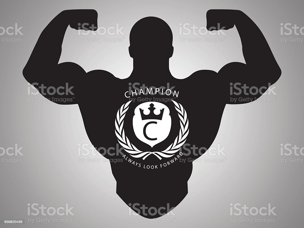Bodybuilder Logo vector art illustration