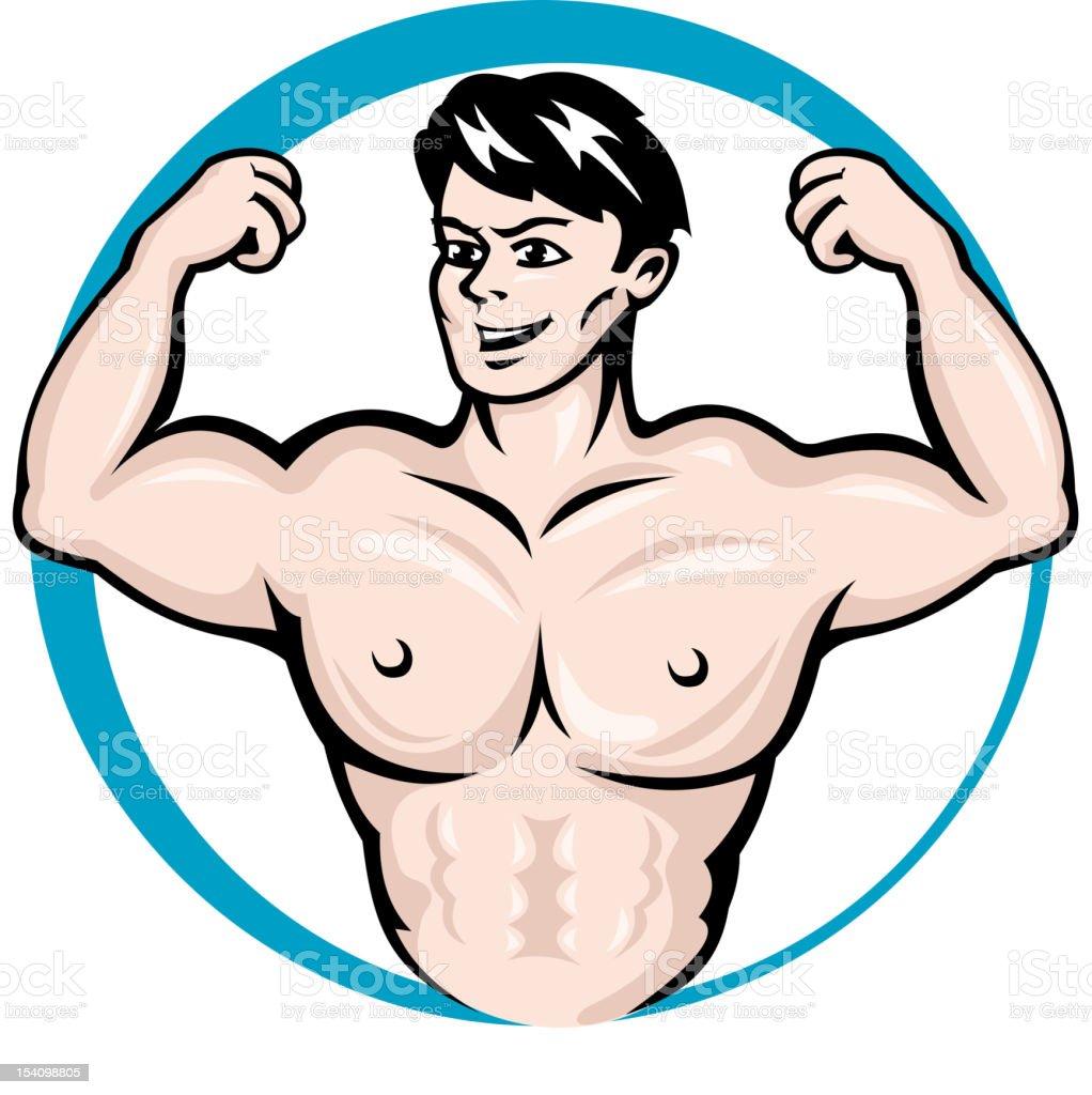 Bodybuilder man royalty-free stock vector art