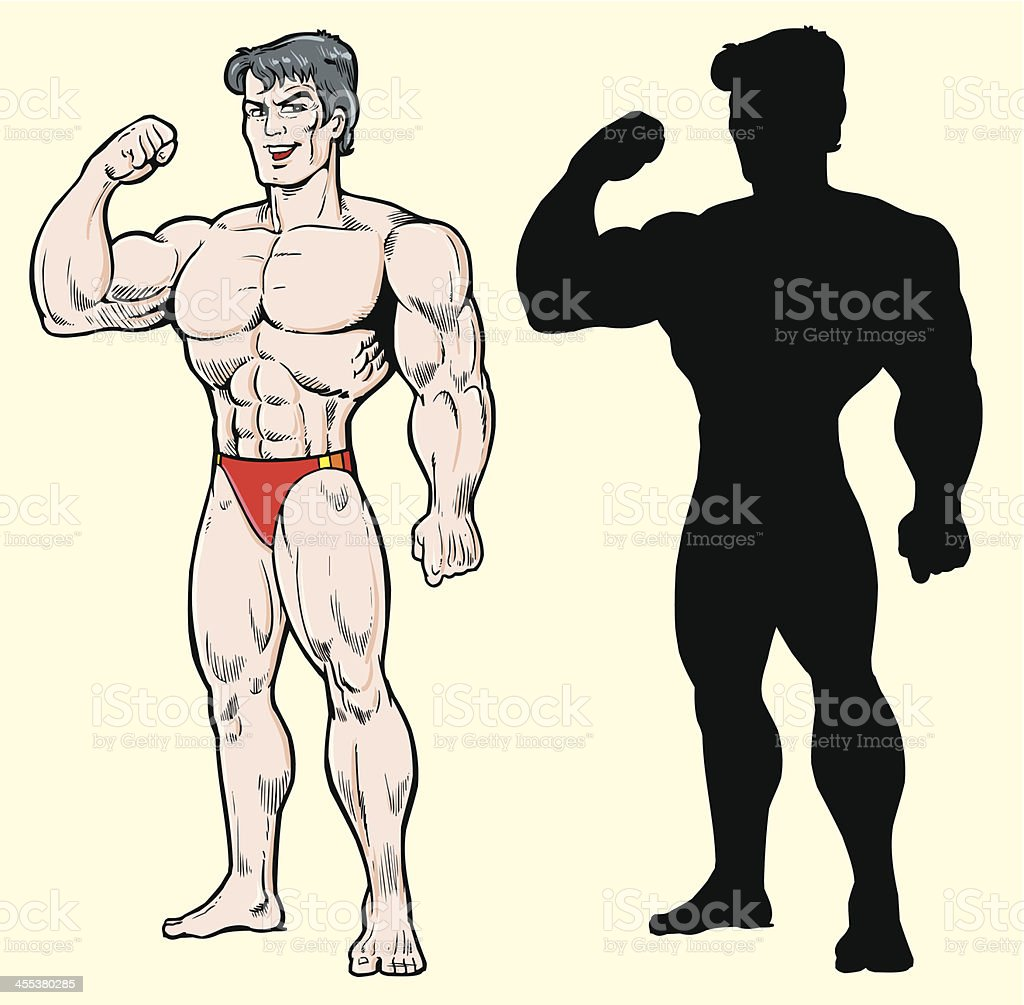 Bodybuilder royalty-free stock vector art