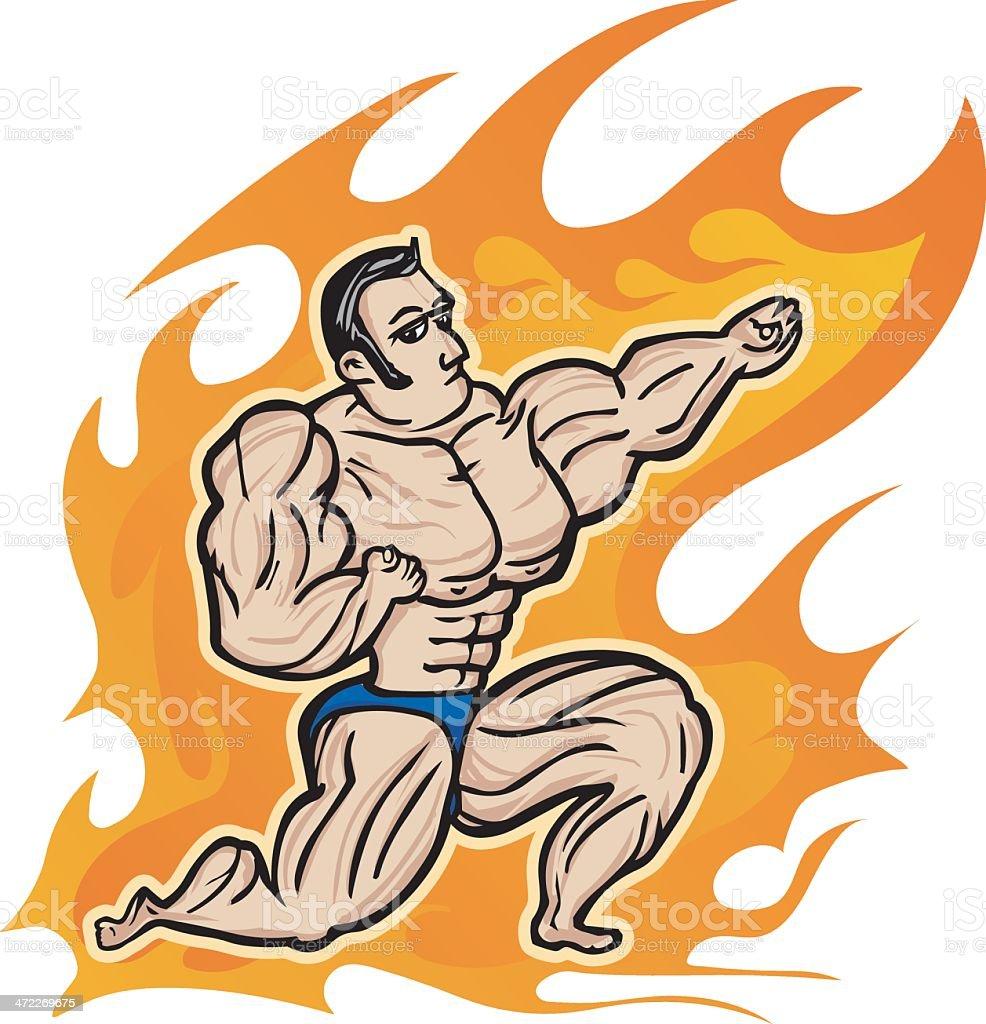 Bodybuilder royalty-free stock vector art