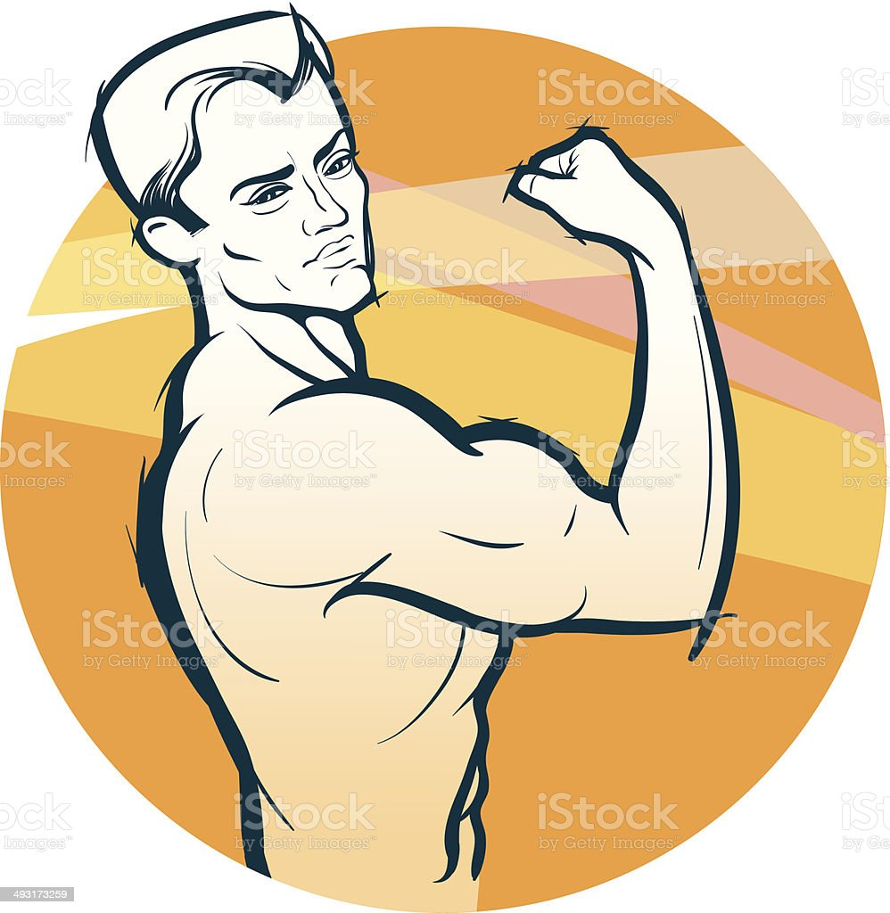Body-builder vector art illustration