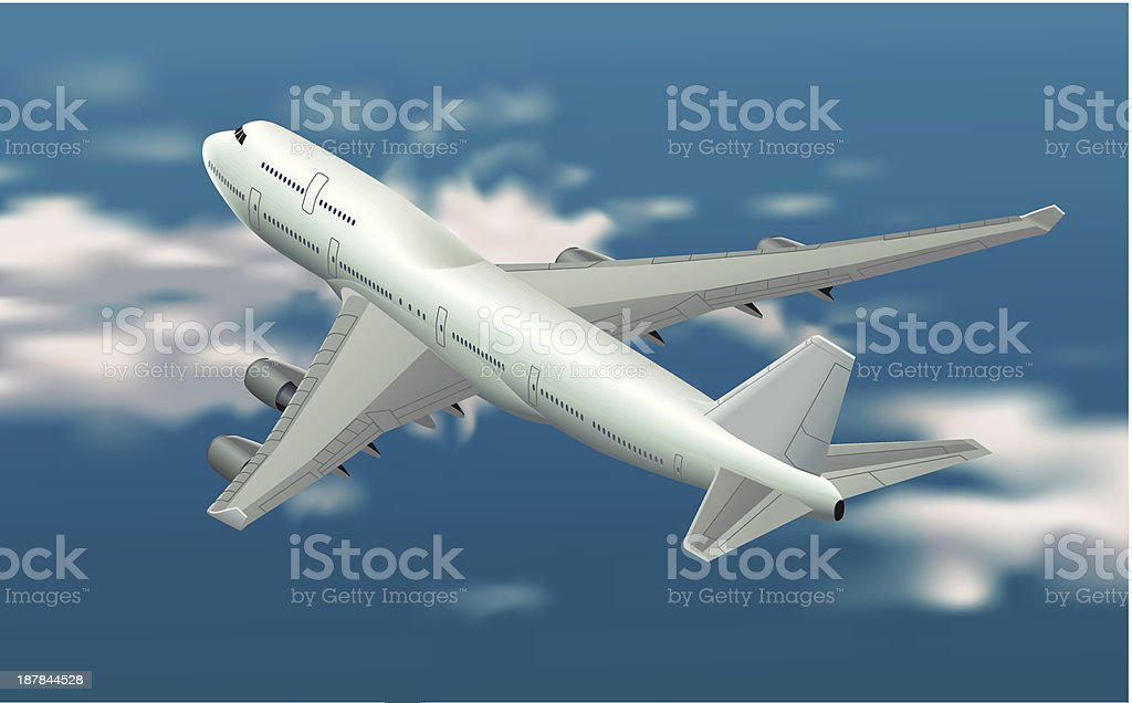 Boeing 747 vector art illustration