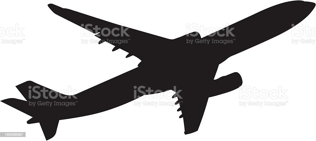 Boeing 767 vector art illustration
