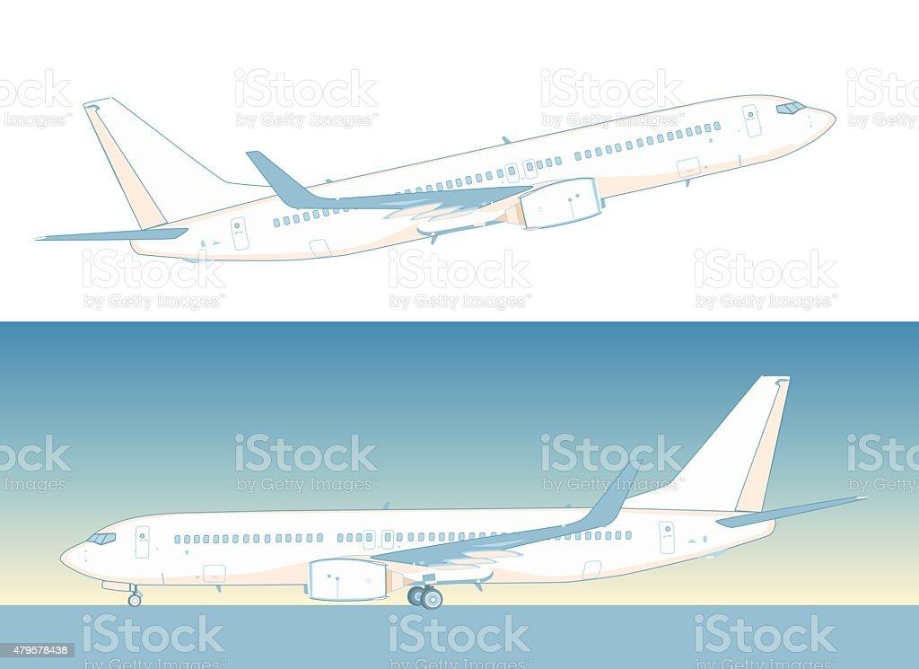 Boeing airliner vector art illustration