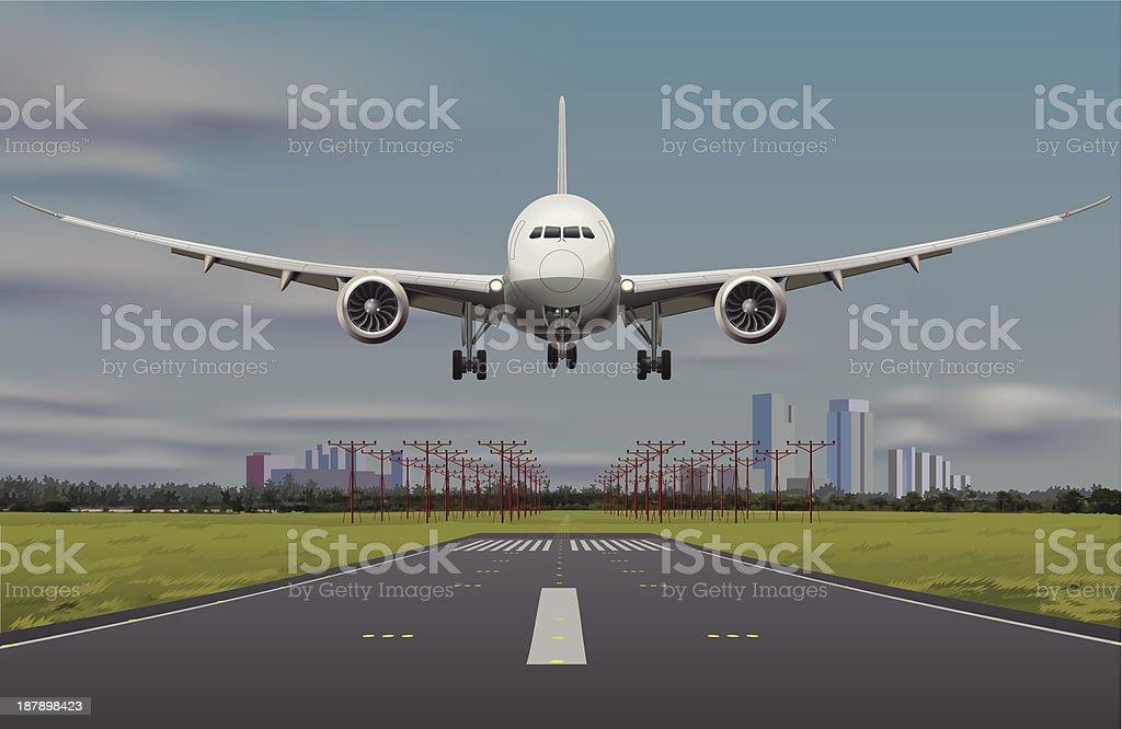 Boeing B787 aircraft vector art illustration