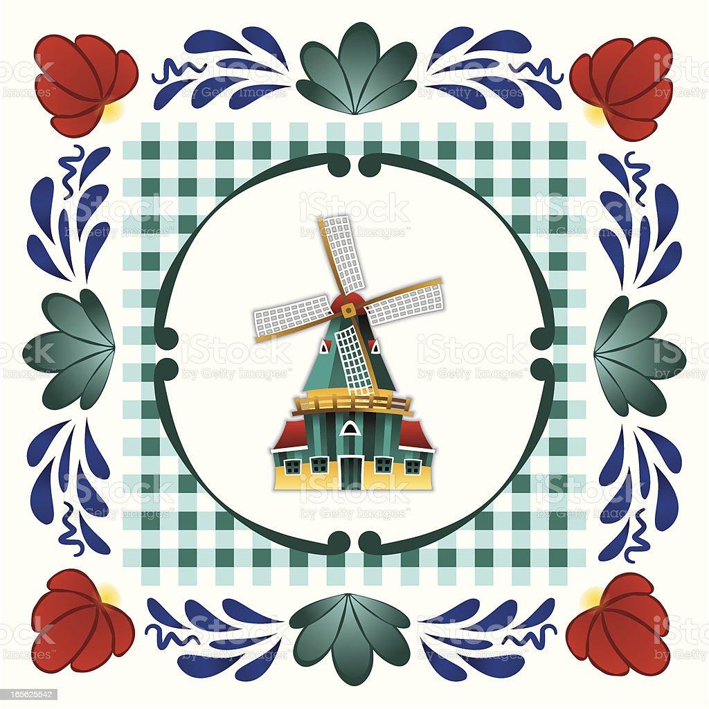 Boerenbont mill royalty-free stock vector art