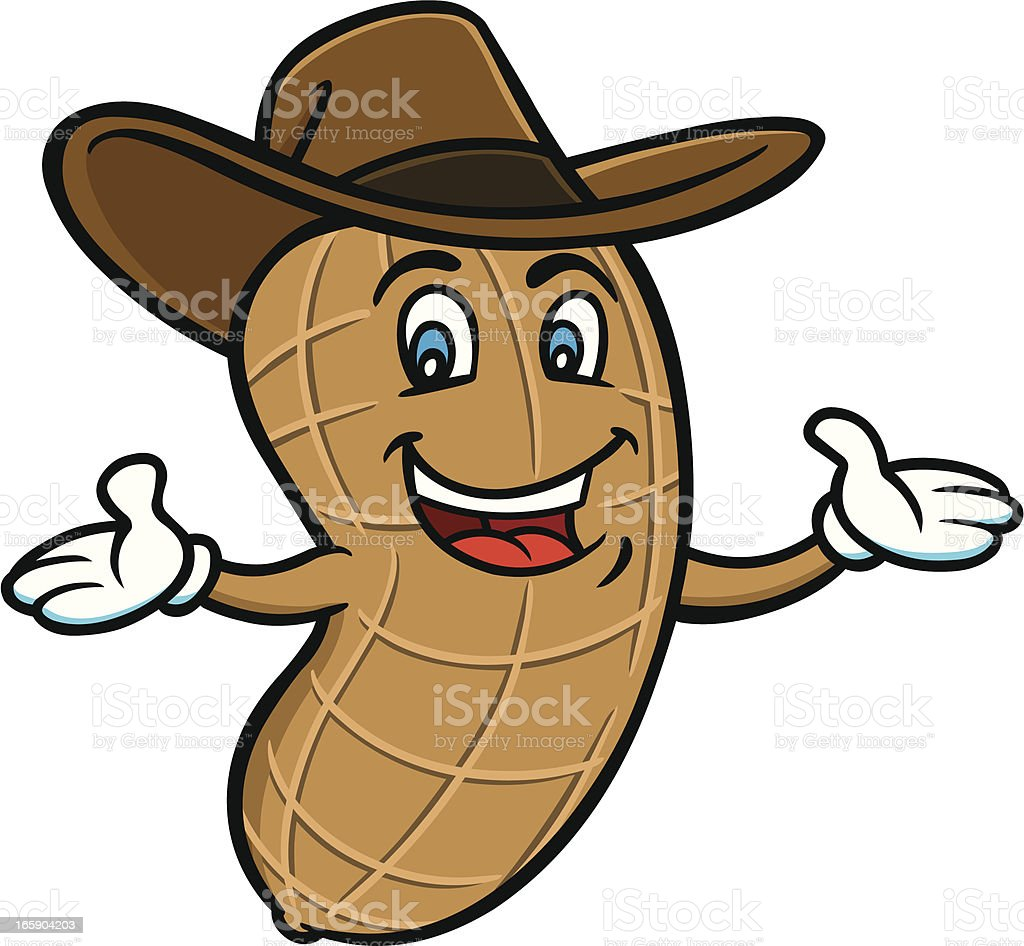 Boiled Peanut Mascot vector art illustration
