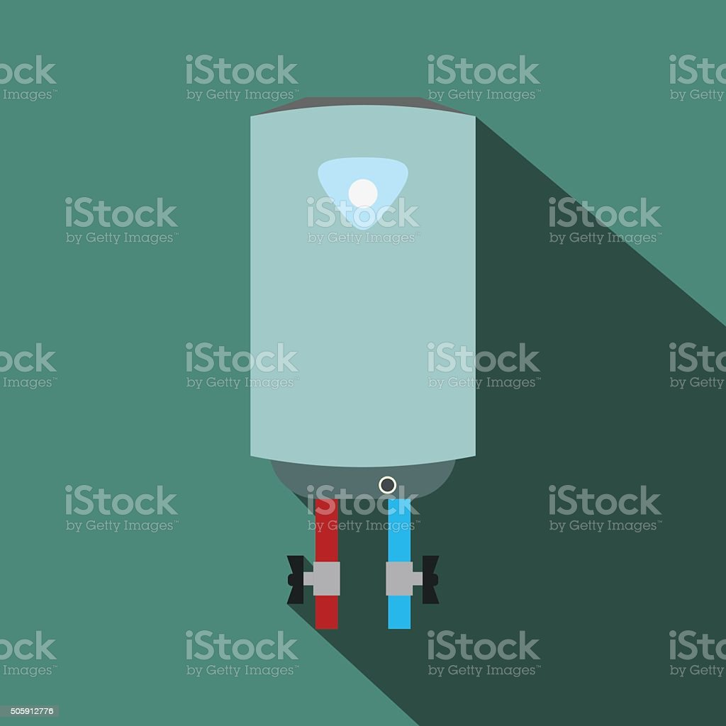 Boiler flat icon with shadow vector art illustration