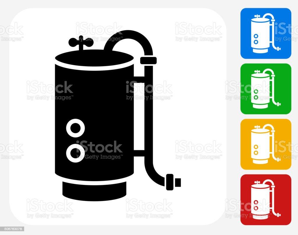 Boiler Icon Flat Graphic Design vector art illustration
