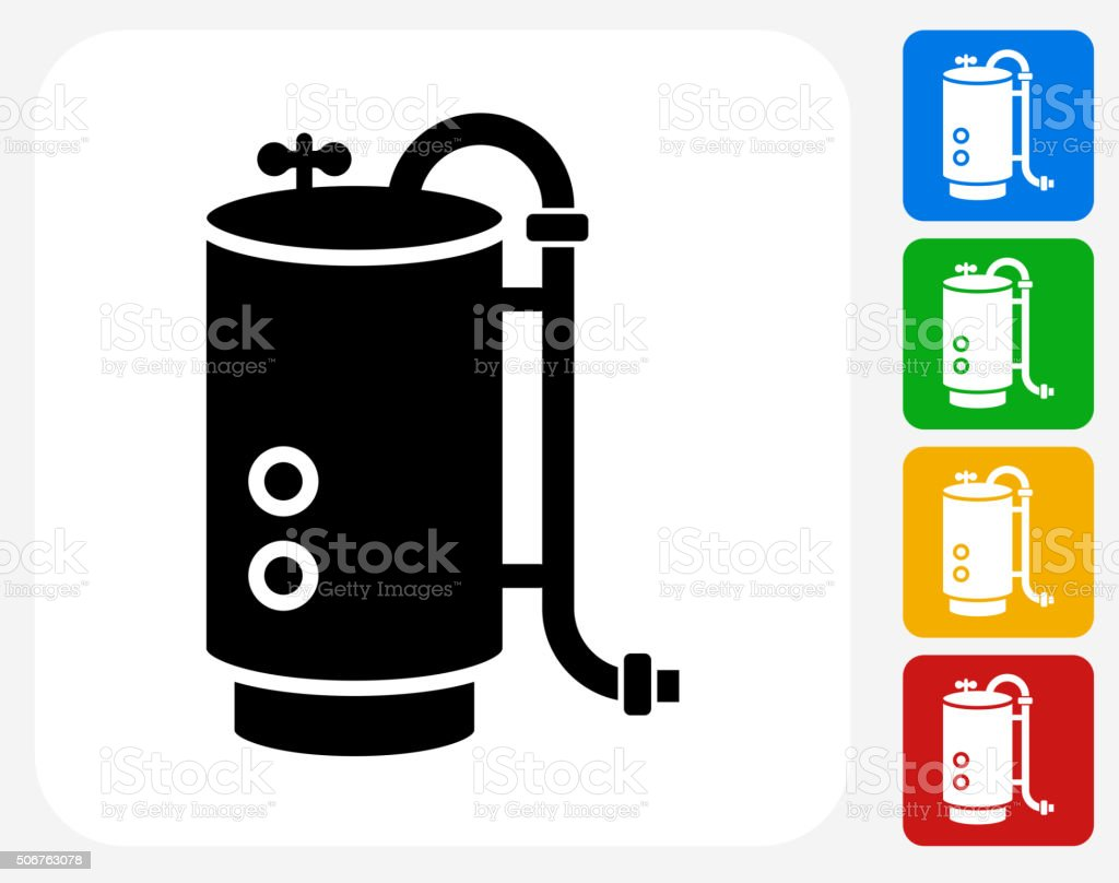 Boiler Icon Flat Graphic Design vector art illustration