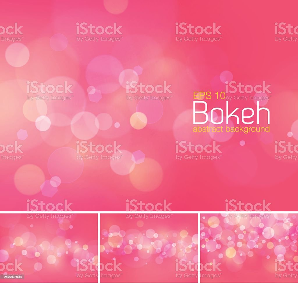 Bokeh and blur vector abstract background vector art illustration
