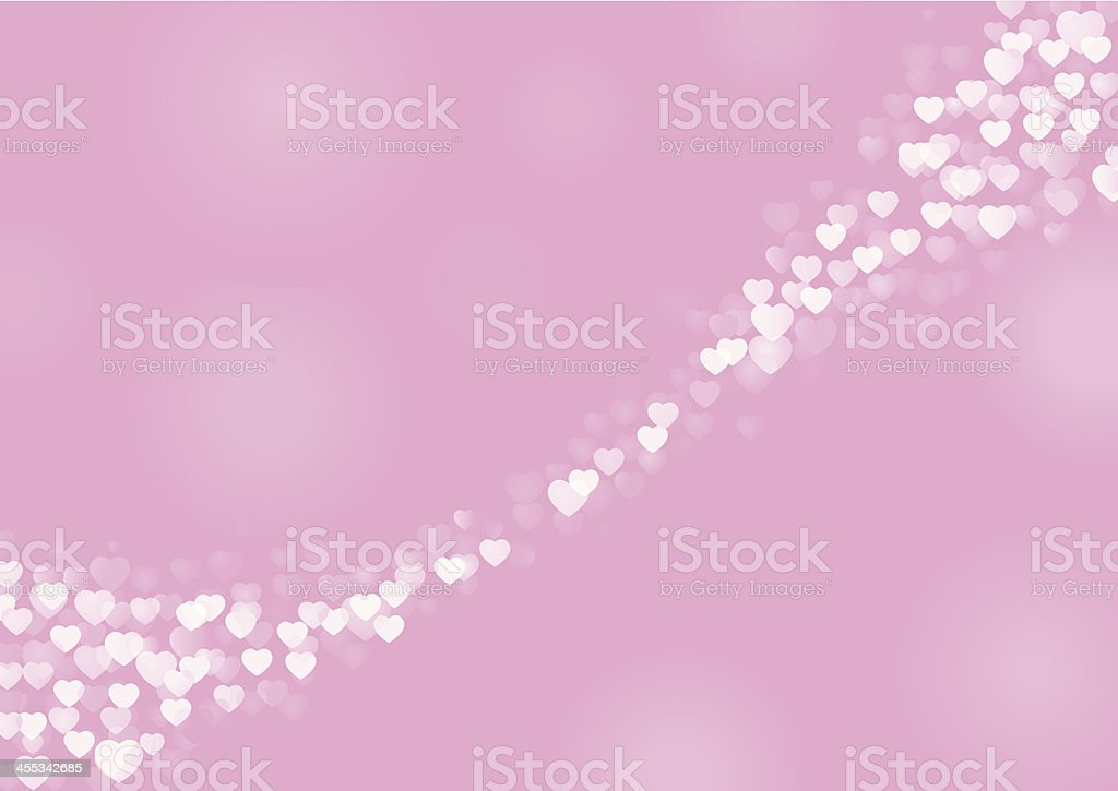 Bokeh Effect Heart Background royalty-free stock vector art