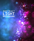 Bokeh light in night vintage background