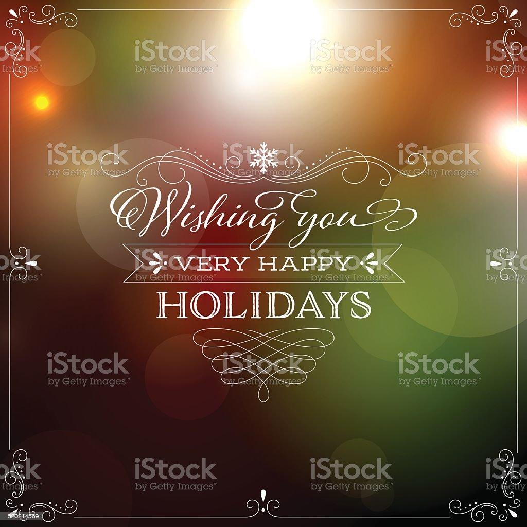 Bokeh Lights Holiday Background vector art illustration