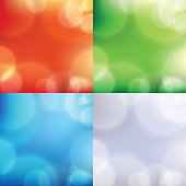 bokeh red green blue grey background