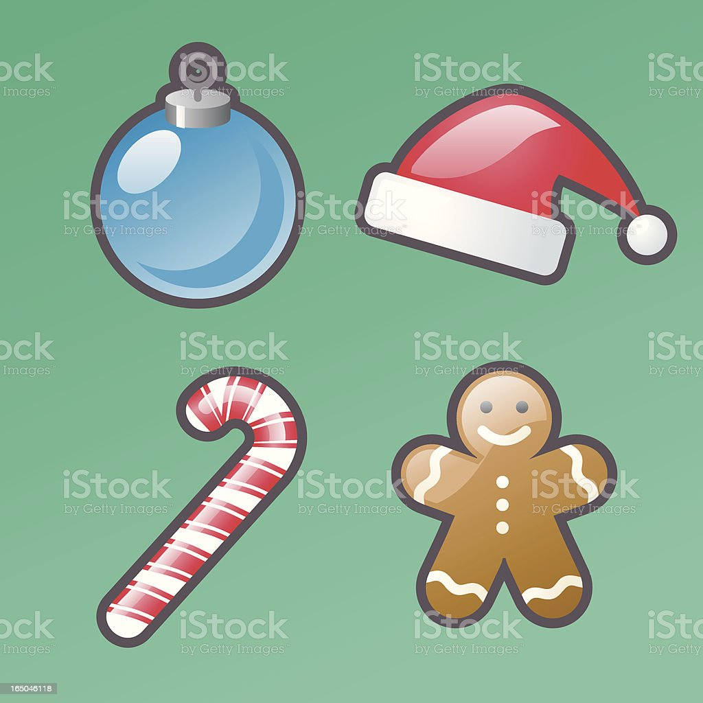 bold icons: xmas royalty-free stock vector art