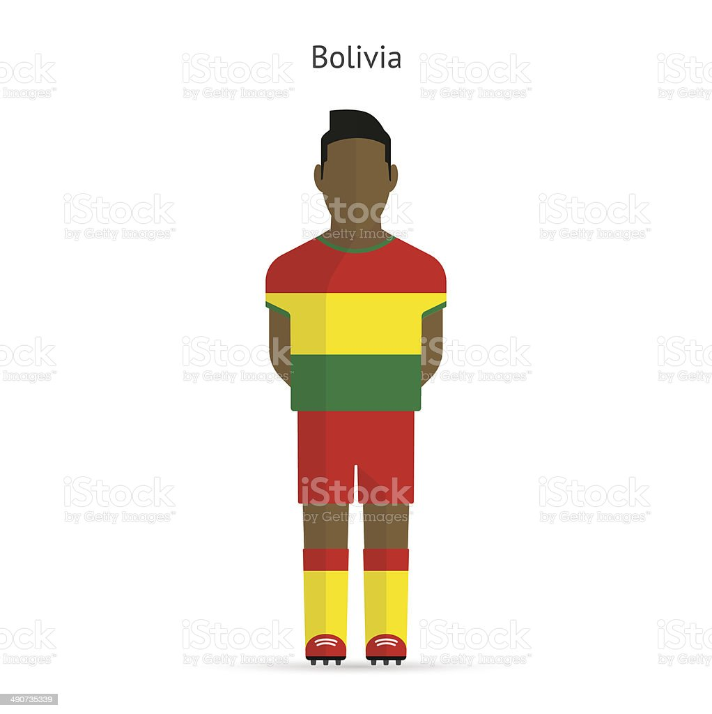 Bolivia football player. Soccer uniform. Vector illustration.