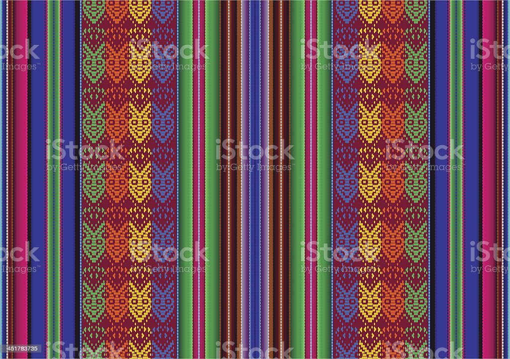Bolivian seamless pattern vector art illustration
