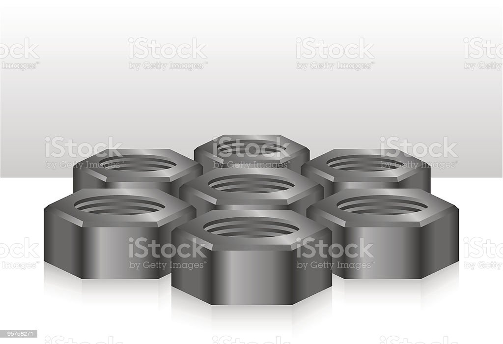 Bolt 3d abstract royalty-free stock vector art