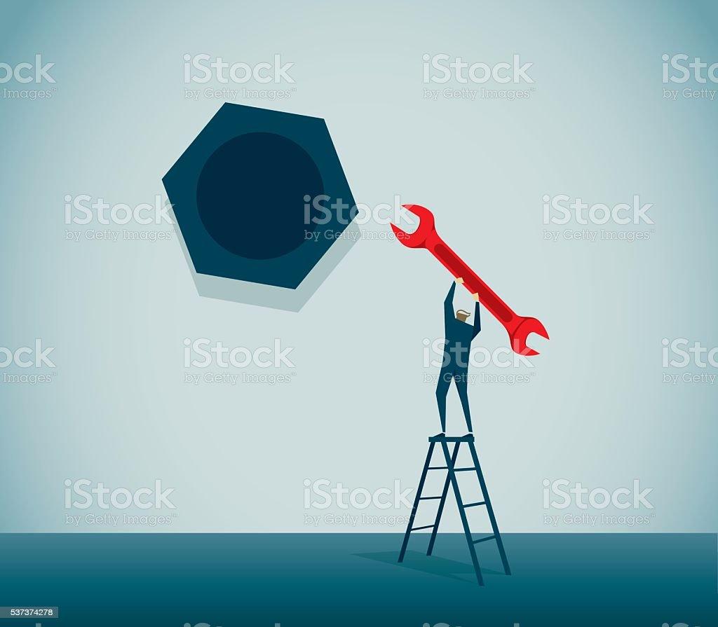 Bolt vector art illustration