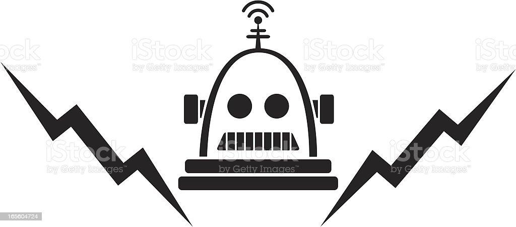 Bolts the Robot vector art illustration