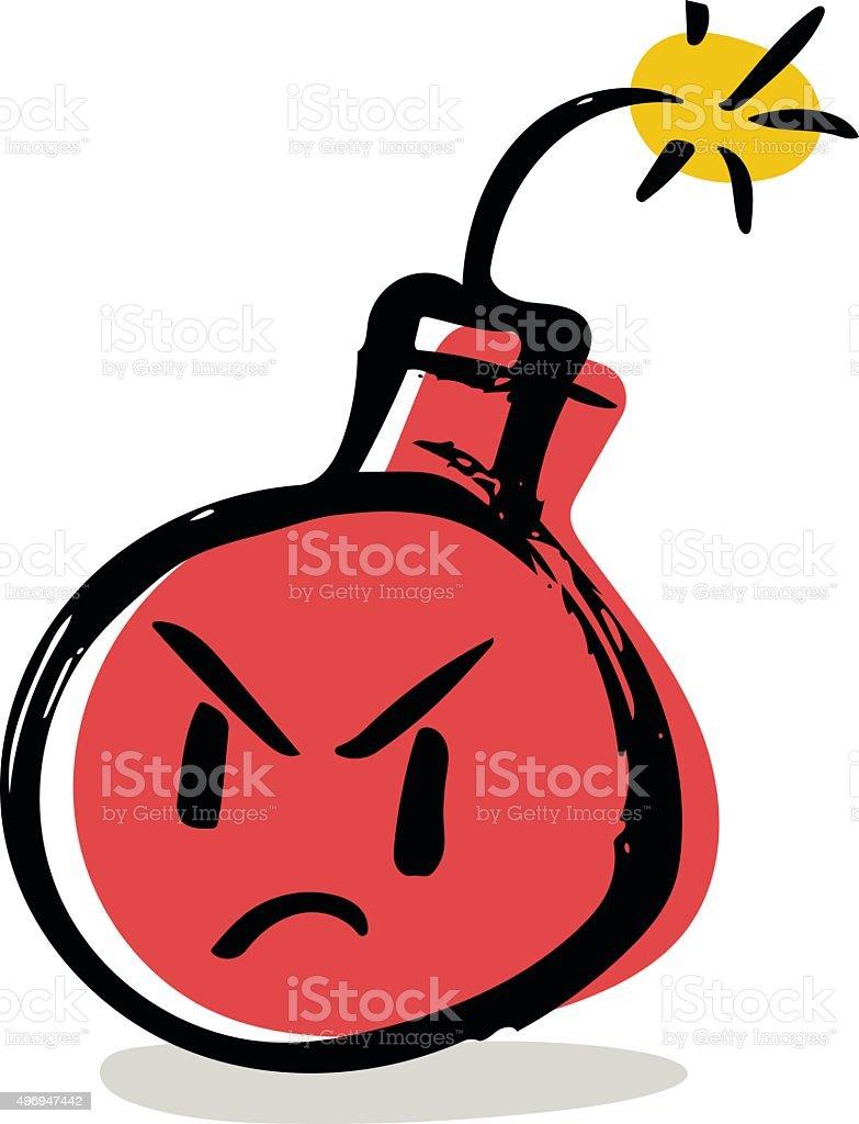 Bomb Character vector art illustration