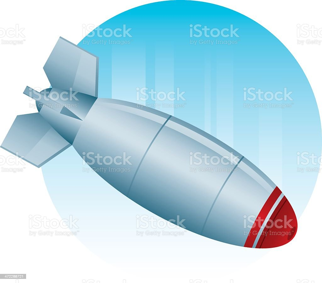 Bomb Dropping royalty-free stock vector art