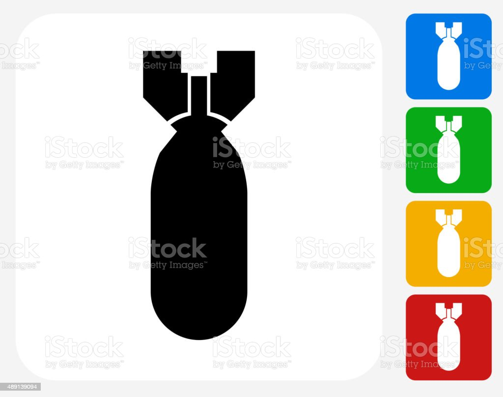Bomb Icon Flat Graphic Design vector art illustration