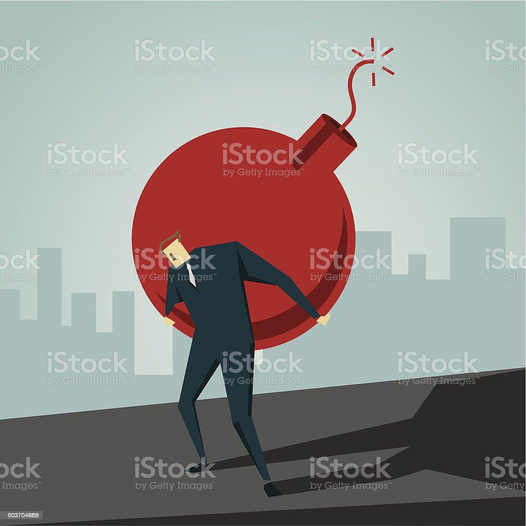 Bomb vector art illustration