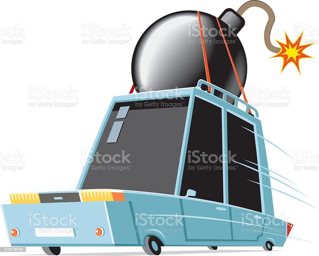 bomber on the way vector art illustration