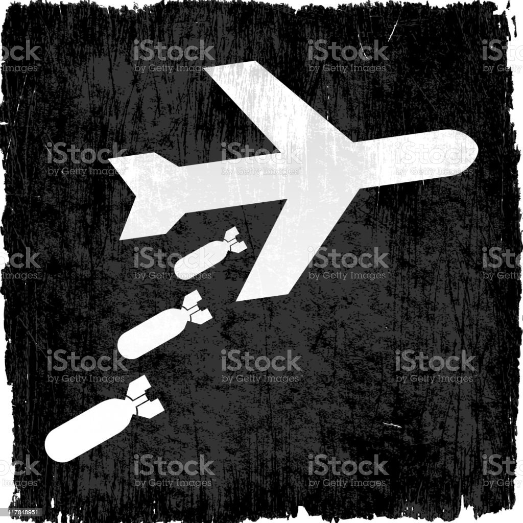 bomber plane on royalty free vector Background royalty-free stock vector art
