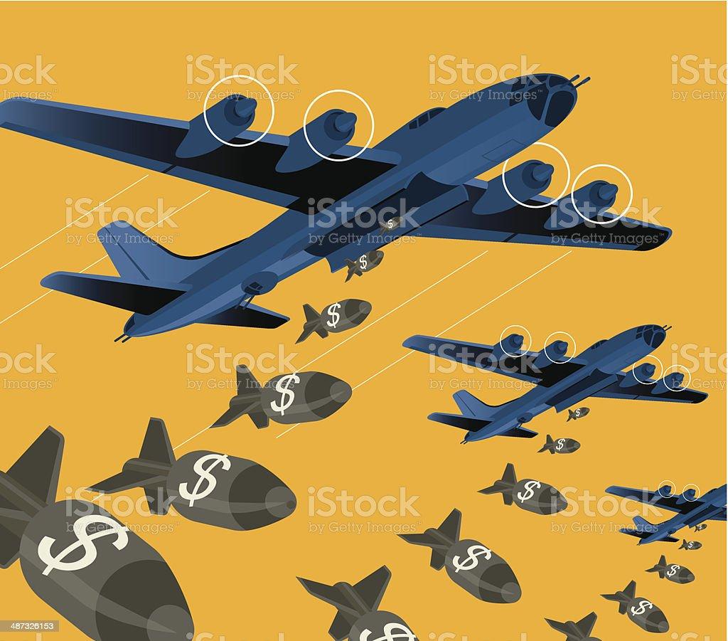 Bomber vector art illustration