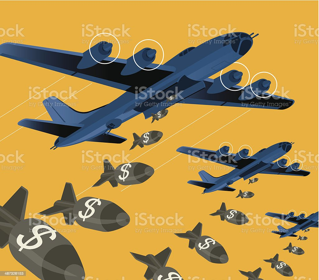 Bomber vector art illustration
