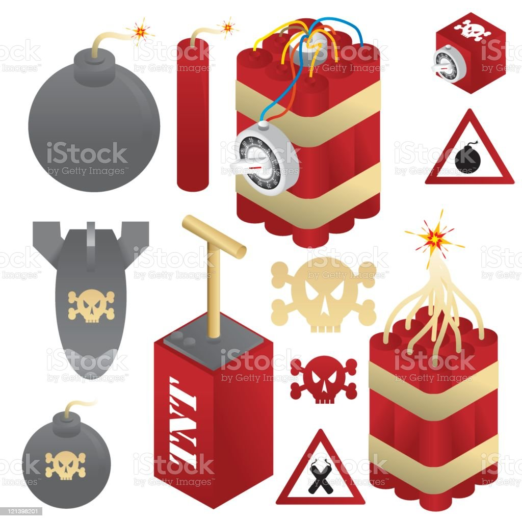 Bombs and Dynamite vector art illustration