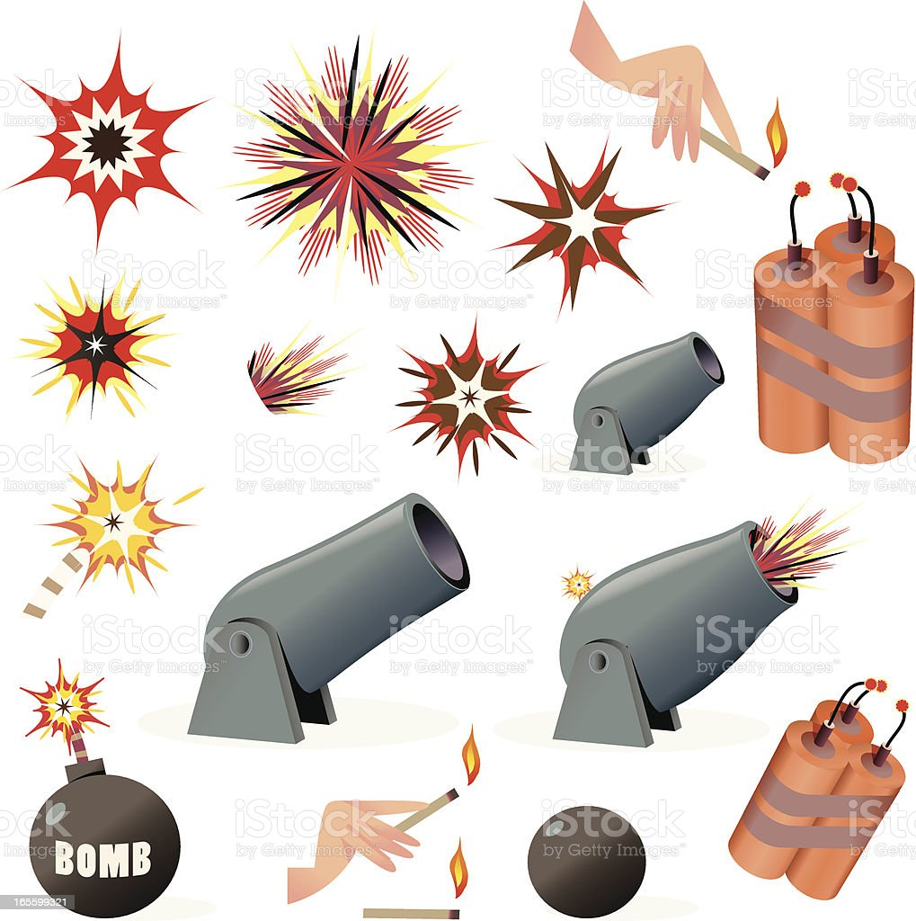 Bombs and Explosions royalty-free stock vector art