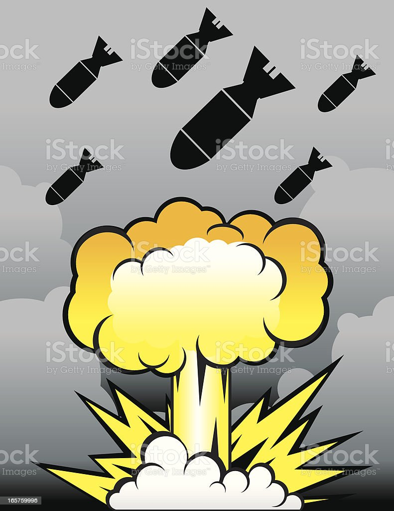 Bombs are Coming vector art illustration