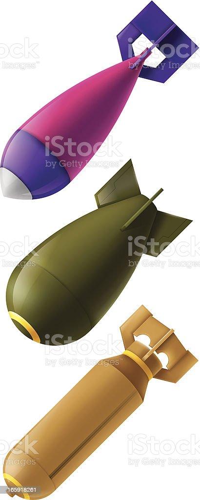 bombs vector art illustration