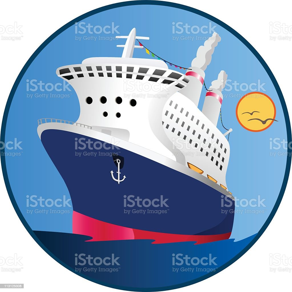 Bon Voyage Icon (Vector) royalty-free stock vector art