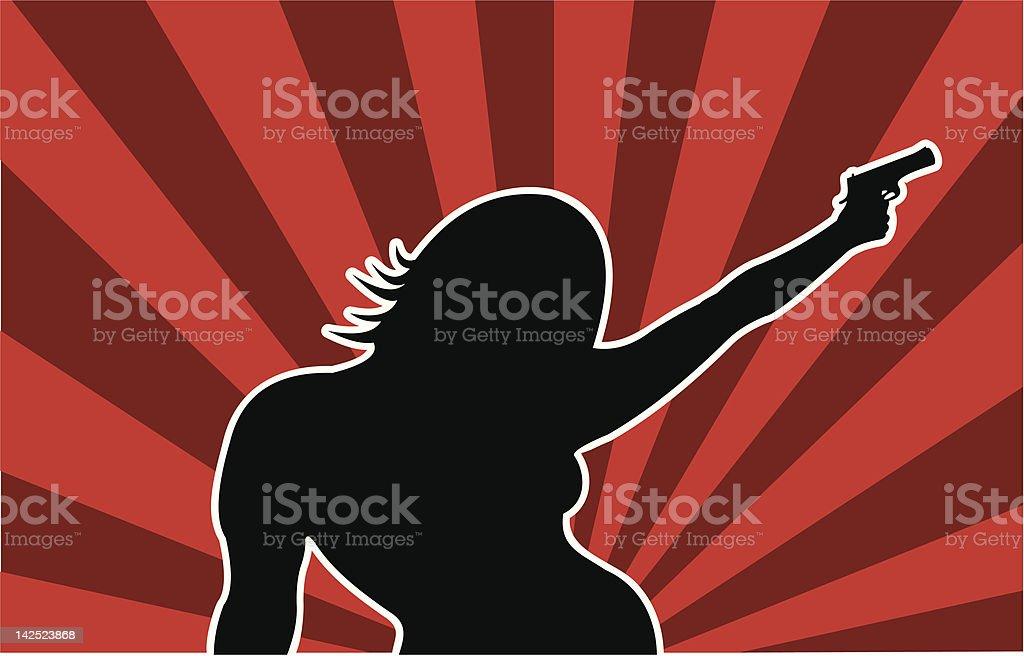 Bond Girl royalty-free stock vector art