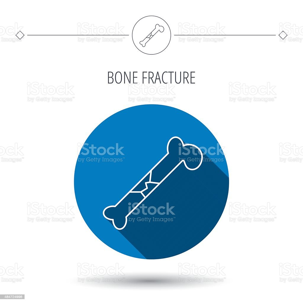 Bone fracture icon. Traumatology sign. vector art illustration