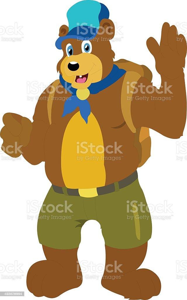 Boney The Teddy Bear royalty-free stock vector art